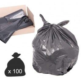 Black Compactor Sacks - Heavy - Extra Heavy Duty (Box of 100)