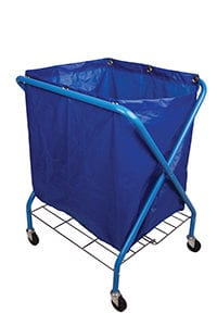 Folding Waste Cart With Vinyl Bag