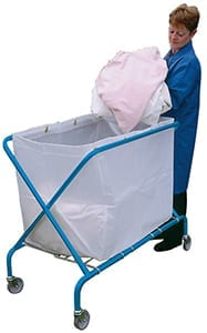 Service Cart with Translucent Vinyl Bag