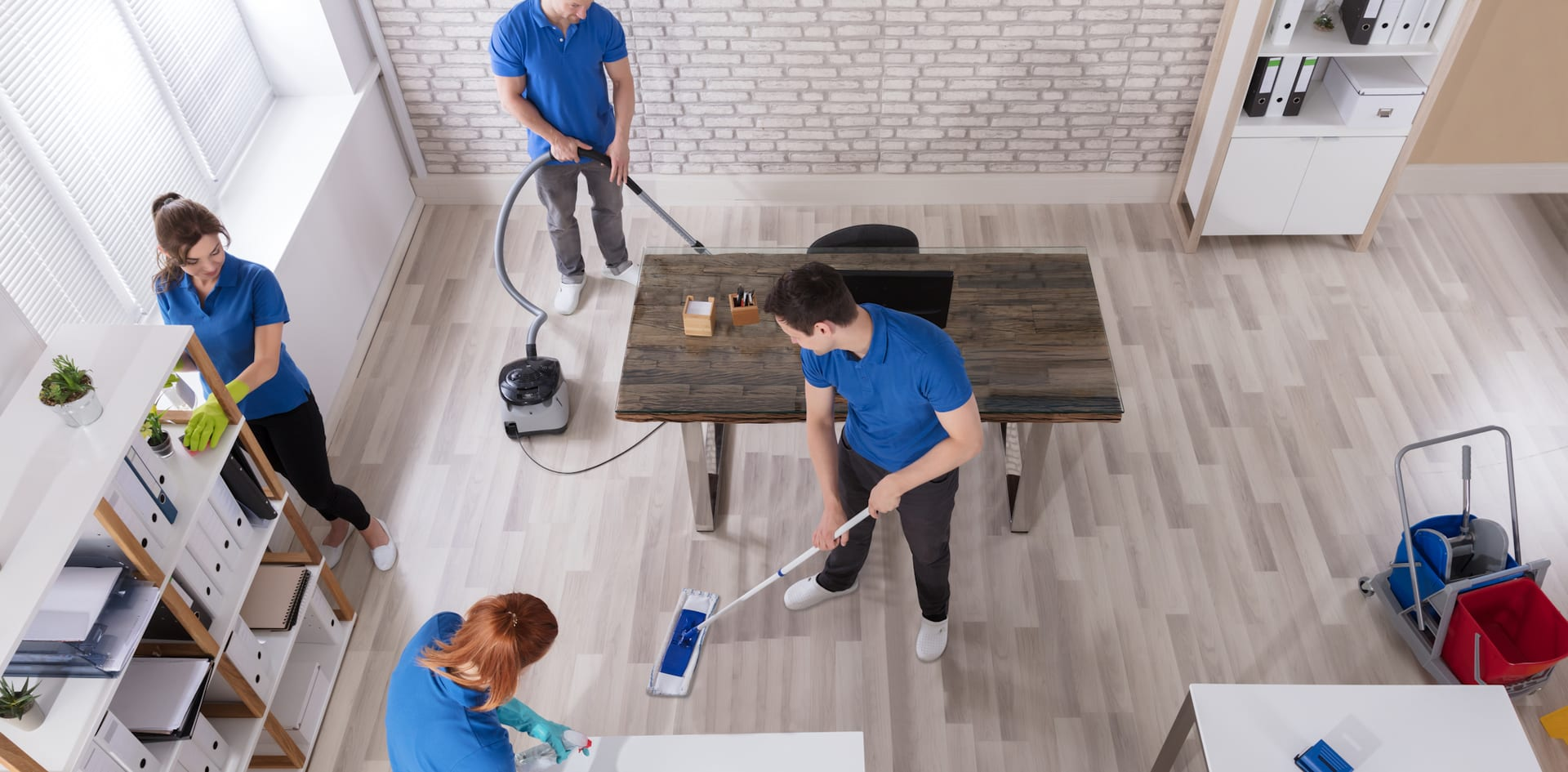 Cleaners using Cleaning Equipment